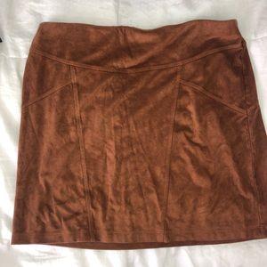 Brown Express Skirt